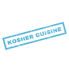 Kosher Cuisine Rubber Stamp vector