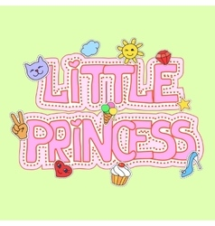 Little princess fot t-shirt print vector