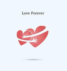 love forever logo design templatewedding vector image