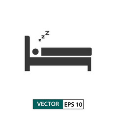 man sleep icon isolated on white eps 10 vector image