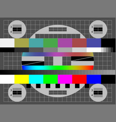 No signal tv color test screen vector