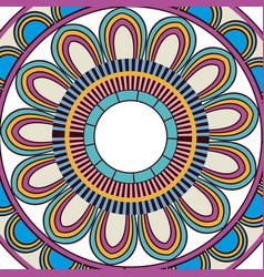 Ornate abstract color mandala element wallpaper vector