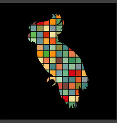 Parrot bird cat pet color silhouette animal vector