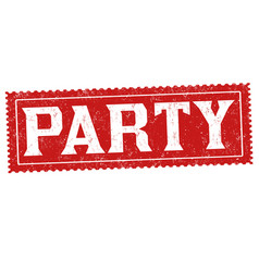 party grunge rubber stamp vector image