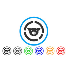 pig diagram rounded icon vector image