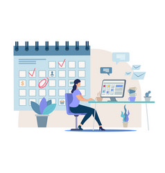 planning business tasks for month concept vector image
