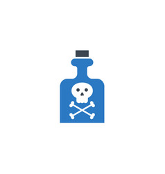 poison related glyph icon vector image