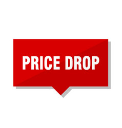 Price drop red tag vector