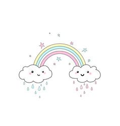 Rainbow print vector