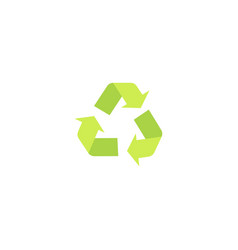 recycling green eco symbol and icon with arrows in vector image