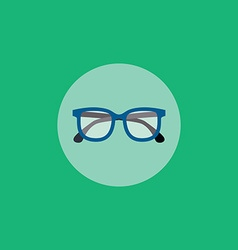 retro glasses vector image