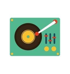 retro music player icon vector image