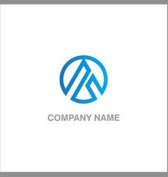 round triangle company logo vector image