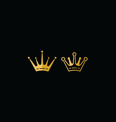 royal crown icon logo vector image