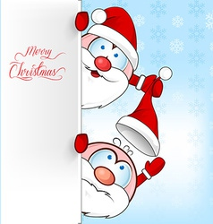 santa clus cartoon on background vector image