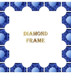 Sapphire square frame vector