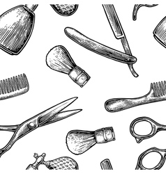 Seamless pattern set tool for BarberShop vector