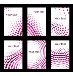 Set of business cards with violet colours vector image