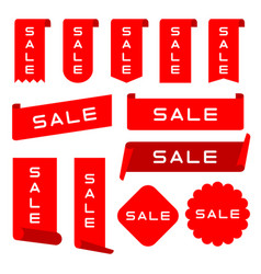 set ribbons labels banners collection vector image