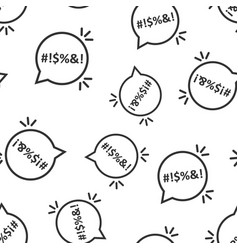 Shout speech bubble icon seamless pattern vector