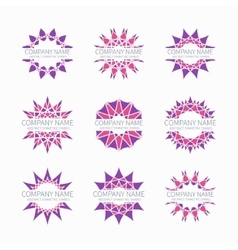 Simple pink geometric abstract symmetric shapes vector image