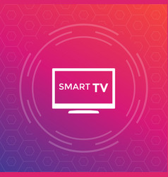 smart tv icon sign vector image