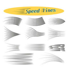 speed lines design elements for manga and comics vector image