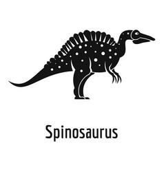 Spinosaurus icon simple style vector