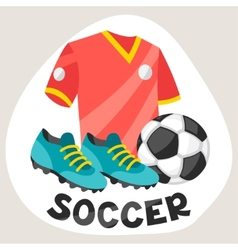 Sports background with soccer symbols vector image