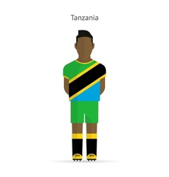 Tanzania football player Soccer uniform vector