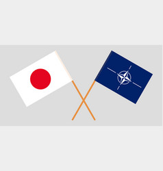The nato and japanese flags vector