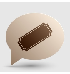 Ticket sign Brown gradient icon on vector image