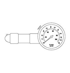 Tire pressure gauge Contour vector image vector image