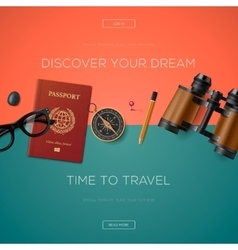 Tourism website template vector