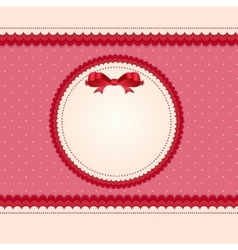 Vintage card with bow vector