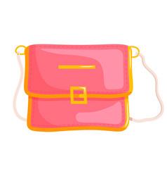 woman messenger bag vector image