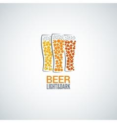 beer glass logo design background vector image vector image