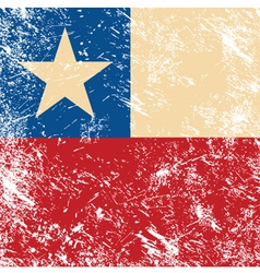 Chile retro flag vector image vector image