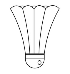 shuttlecock icon outline style vector image