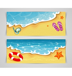 Summer cards vector image