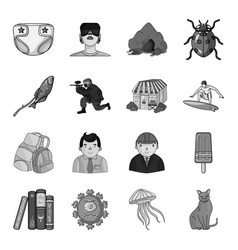 toy horror story and other web icon in monochrome vector image vector image