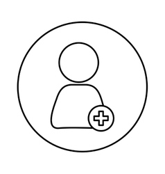 Add people symbol vector