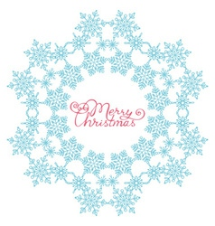Blue snowflake from snowflakes vector image