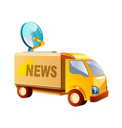 icon news truck vector image vector image