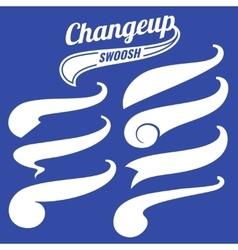 Vintage swash baseball logo tails set vector image