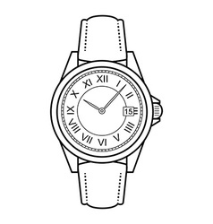 Business style hand watches Contour vector image vector image