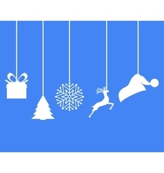 Christmas decorations of paper tape vector