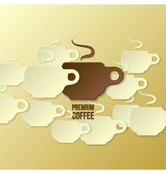coffee paper background vector image vector image