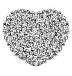 illustration of floral heart vector image vector image