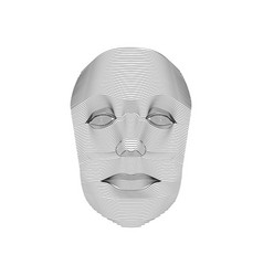 lined face vector image